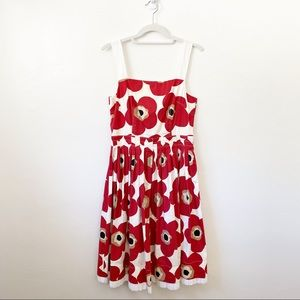 Dolce & Gabbana Cotton Floral Pleated Dress